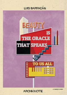 Federico Babina depicts famous architecture quotes as signs