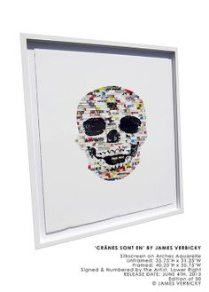 New silkscreen by James Verbicky..at the gallery!  www.joanneartmangallery.com