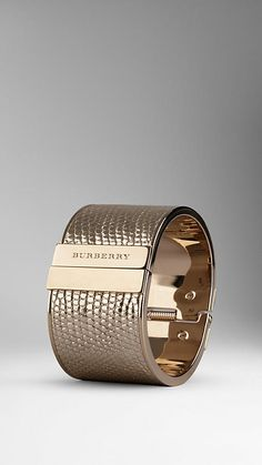 Metallic Lizard Cuff | Burberry