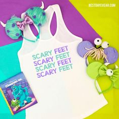 Monster's Inc Scary Feet Shirt - The perfect Monsters Inc shirt or Disney family shirt- Disney shirts featuring Sully, Mike Wazowski and Boo Matching Disney Shirts, Disney Shirts For Family, Disney Family, Disney Girls, Family Shirts, Monsters Inc Shirt, Toy Story Costumes, Disney Villains, Disney Pixar