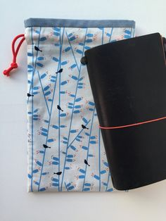 Items similar to Planner Bag - Traveler's Notebook - Midori - Moleskine - Leuchtturm - TN bag - TN Pouch - Journal Bag - Personal Planner - Chic Sparrow on Etsy Notebook Bag, Travelers Notebook, Moleskine, Pouch, Journal, Fabric, How To Make, Bags, Etsy