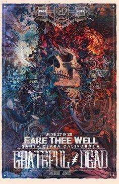 The Geeky Nerfherder: Cool Art: 'Grateful Dead' Concert Posters by Richey Beckett & Android Jones