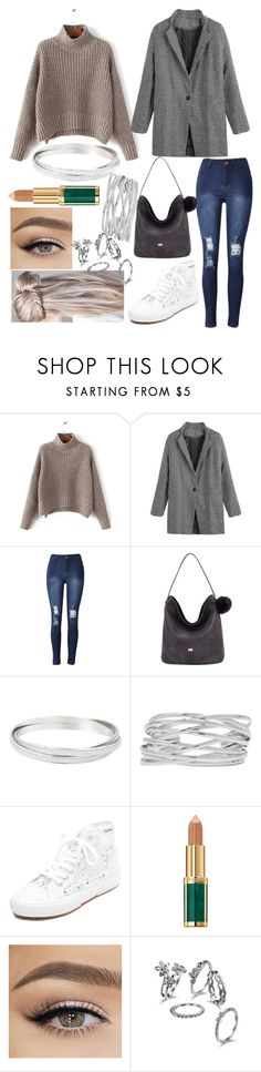 """""""£135.95 this outfit costs"""" by hannahgage1 ❤ liked on Polyvore featuring David Jones, M&Co, Superga and Balmain"""