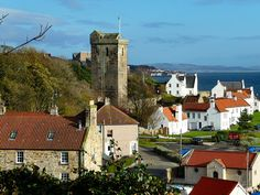 Dysart, Kirkcaldy, Fife, Scotland is located on the south-east coast between Kirkcaldy and West Wemyss in Fife. Urban clearance during the 1950s and 1960s saw large parts of the historic town demolished for new housing. Demand from the town's residents meant that part of the historic town — most notably the 16th-century and the 18th-century houses of Pan Ha' opposite the harbour — were salvaged and preserved for future generations. Fife Scotland, Scotland Trip, Scotland Travel, Cool Places To Visit, Places To Go, Art Muse, Cairngorms National Park, British Country, Beautiful Islands