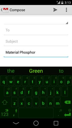 Material Phosphor Green, member of our Material family inspired by Google's Material Design. Designed for the hacker in all of us!