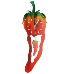 Chili Pepper Pendulum Clock By Fudo Http Www