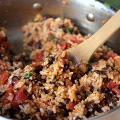 Mexican Tomato Rice and Beans Recipe Main Dishes with brown rice, diced…