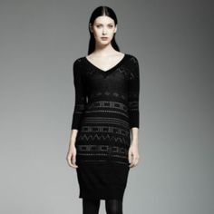 Catherine Malandrino for DesigNation Pointelle Sweaterdress Set 23-