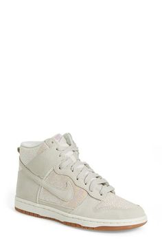 Free shipping and returns on Nike 'Dunk High' Sneaker (Women) at Nordstrom.com. Sporty court style takes to the street as a stand-out high-top sneaker in a shimmery metallic finish with signature Nike Swoosh accents.