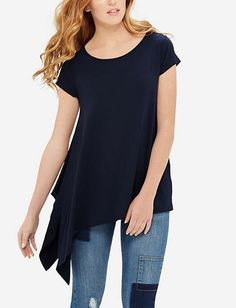 Drapey Asymmetrical Tee from THELIMITED.com