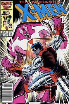 The Uncanny X-Men #209, September 1986, cover  by John Romita, Jr.