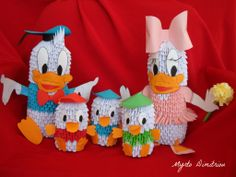 Donald Duck-Daisy Duck and the three nephews