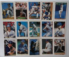 1995 Topps Series 1 Los Angeles Dodgers Team Set of 15 Baseball Cards #topps #LosAngelesDodgers