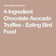 4-Ingredient Chocolate Avocado Truffles - Eating Bird Food
