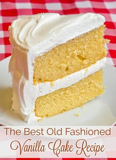 Rock Recipes TOP TEN Dessert Cake Recipes - The Best Vanilla Cake - The recipe every baker searches for; a moist, tender, buttery, homemade vanilla cake that's very deserving of its position on our TOP TEN celebration cakes list. Rock Recipes, Sweet Recipes, Food Cakes, Cupcake Cakes, Dog Cupcakes, Homemade Vanilla Cake, Vanilla Cake Recipes, Frosting Recipes, Simple Vanilla Cake Recipe From Scratch
