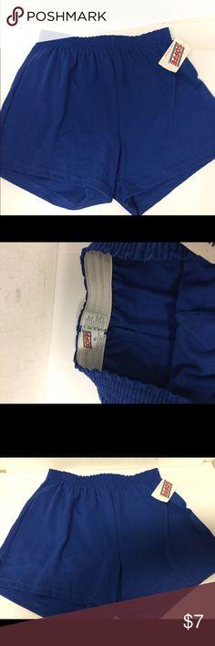 "SOFFE Royal Blue Shorts sz XL Gym Cheerleading Elastic in waist. New with tag.  Waist 28-32"". SOFFE Shorts"