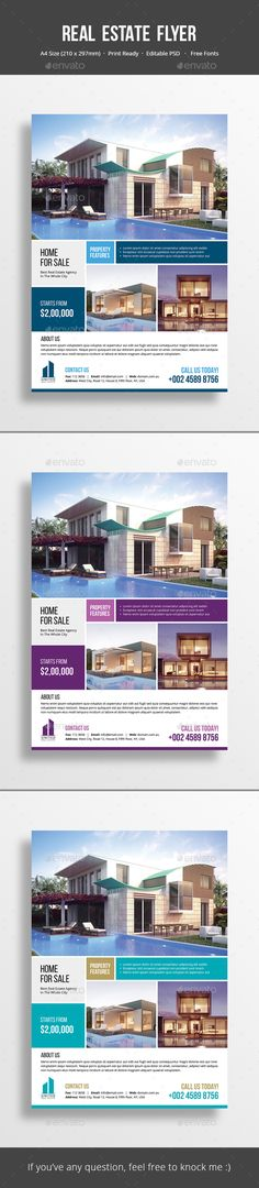 #Real Estate Flyer - Corporate Business Cards Download here: https://graphicriver.net/item/real-estate-flyer/17072792?ref=alena994
