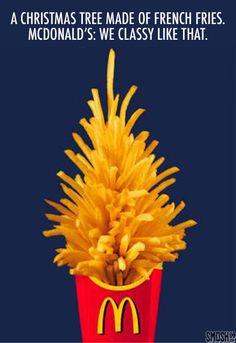 holiday ad mcdonalds fries Christmas tree