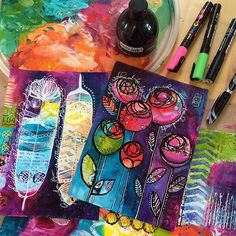 Did I mention that I love color? ❤️ #color #colour #mixedmedia…