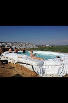 Redneck Pool Party - FUNNY! We could do this at our house!