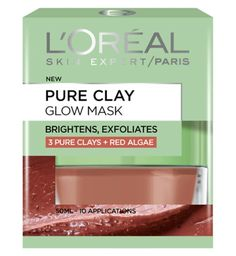 Face Mask || Pure Clay Glow Mask- 3 Pure Clays + Red Algae (brightens,exfoliates)