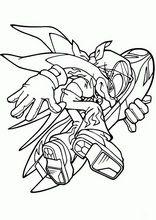 Pintar e colorir desenhos para crianças. Sonic1
