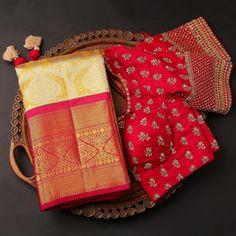 Wedding Saree Blouse Designs, Pattu Saree Blouse Designs, Fancy Blouse Designs, Blouse Neck Designs, Saree Wedding, Designer Silk Sarees, Designer Blouse Patterns, Festive, Indian Sarees
