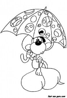 Printable cartoon Diddl coloring pages - Printable Coloring Pages For Kids
