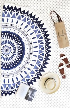 The Beach People Round Towel Majorelle
