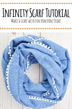 Make your own infinity scarf using this easy to follow infinity scarf tutorial. #sewingprojects #infinityscarftutorial #sewingideas #infinityscarf