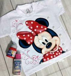 Painted Clothes, Tatty Teddy, Diy Clothes, Art For Kids, Cow, Minnie Mouse, Disney Characters, Fictional Characters, Creations
