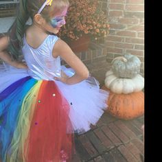Unicorn tutu with rhinestones, Baby Girl Birthday Cake Smash Outfit, long tail Tulle skirt, 6 month photo prop colorful ribbon red orange