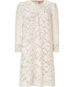 Anna Sui--Cream Wooly Lace Dress