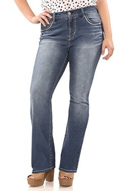 96923fac54 Amazon.com  WallFlower Plus Size Classic Legendary Bootcut Jeans  Clothing