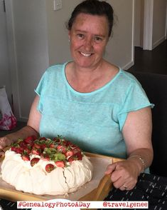 Day 24 Naughty or Nice. Late again but it is so busy over Christmas. I have had such a fab time on Christmas Eve and Christmas Day. This pic is a sister-in-law on security duty with the pavlova on Christmas Eve. It's a traditional desert at celebration times for both New Zealand and Australia. The countries fight over who invented it first. Some of us love it so you need a big one. Home made is much nicer than store bought ones. Traditional topping is whipped cream with kiwi fruit passion…