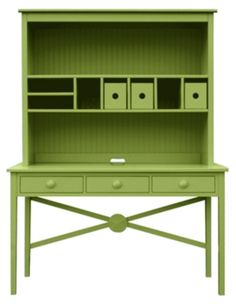 Low Tide Desk with Easy Storage from Maine Cottage, love the extra storage space above Funky Furniture, Upholstered Furniture, Unique Furniture, Furniture Making, Home Furniture, Furniture Storage, Handmade Furniture, Painted Furniture, Desk Storage