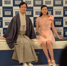 Twitter / asahi_sports: 坂東玉三郎さんと浅田真央さん。エアウィーヴの新CM会見での写 ...