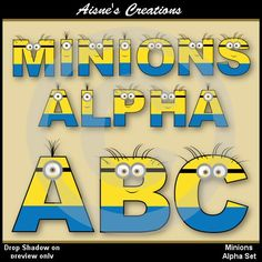 Minions Alphabet clip art set inspired by Despicable Me