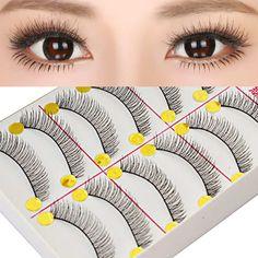 10 Paare bilden natürliche Dicke gekreuzten falsche Wimpern falsche Wimpern