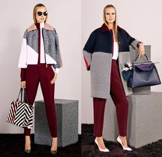 Fendi 2014 Pre Fall Womens Presentation - Pre Autumn Collection - Outerwear Wool Trench Coat Knit Belted Furry Skinny Leggings Pants: Design...