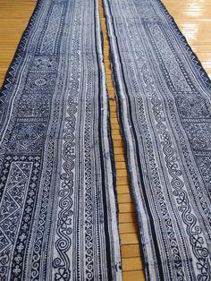 Handwoven Hmong Hemp Vintage Batik by tribalcollection on Etsy
