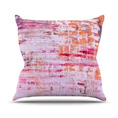 KESS InHouse IL2076AOP03 18 x 18-Inch 'Iris Lehnhardt Bittersweet Pink Orange' Outdoor Throw Cushion - Multi-Colour * Visit the image link for more details. #beautifulgarden