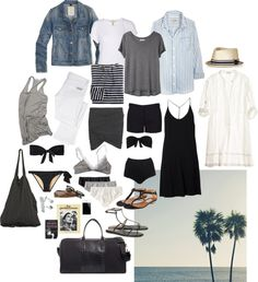 """Packing for the Beach"" by coffeestainedcashmere ❤ liked on Polyvore"