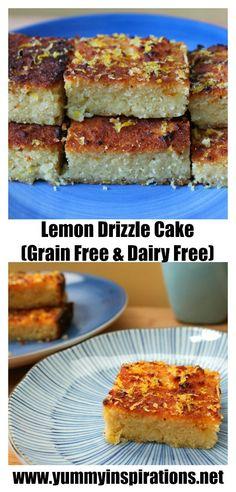 Grain Free Lemon Drizzle Cake