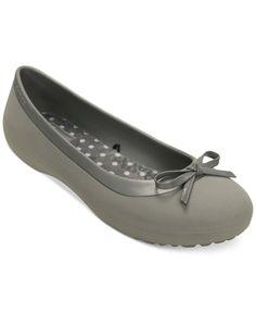 ba757b3ce4de8 Crocs Women s Mammoth Bow Flats Shoes - Flats - Macy s