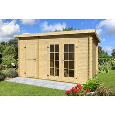 Sol 72 Outdoor 425 cm x 280 cm Gartenhaus Belmont Garden Buildings, Garden Structures, Outdoor Structures, Shed Design, Dcor Design, Outdoor Life, Outdoor Living, Outdoor Decor, Santa Fe