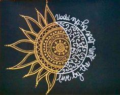 Sun and moon - Trend Tattoo Ocean 2019 Tattoos Motive, Body Art Tattoos, Mandala Drawing, Mandala Tattoo, Henna Designs, Tattoo Designs, Sun Mandala, Piercing Tattoo, Piercings