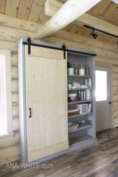 Ana white barn door cabinet or pantry - diy projects there's House Design, Built In Pantry, Kitchen Cabinet Doors, House, Kitchen Pantry Cabinets, Home, Barn Kitchen, Barn Door Cabinet, Diy Pantry