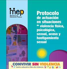 Protocolo de actuación en situaciones de violencia física, psicológica, sexual, acoso y hostigamiento sexual Bullying, Chart, Ideas, Platform, Innovative Products, Teachers, School, Libros, Thoughts