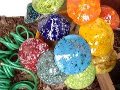 Shroomyz, Ceramic Garden Art, Hand-Painted Ceramic Mushrooms by JJ Potts at www.artbyconny.com